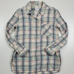 Melrose & Market plaid button down size xs